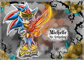 CM: Michelle the hedgehog by shadowhatesomochao