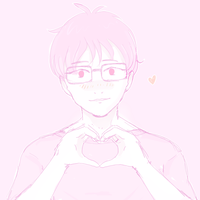 yuri sucks at making heart hands just like viktor by Dark-Tiramisu