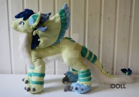 Avien Dragon Plush by dot-DOLL
