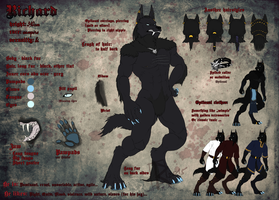 Richard's wolfy form - reference 2013/15 by Ruchiel