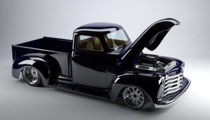 52 Chevy truck 3d model by bewsii