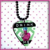 Drink Me Alice Necklace by SugarAndSpiceDIY