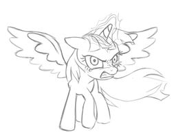 Pissed Alicorn Twilight Sketch by MangaKa-Girl