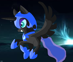 Chibi Nightmare Moon by Blazie-Blaze