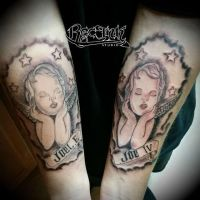 Tattoo, Htown tattoos , twins, angeltattoo by TXREC