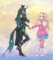 Crysalis and Flufle puff -w- by Yuki1Kurumi1Elric