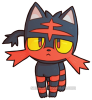 Pokemon - Litten by Sunhuai