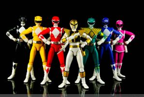 Mighty Morphing of the POWER RANGER by KoroWang