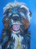 My dog Does by riakooistrapaintings