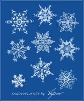 Handcrafted Snowflakes by wytrvn