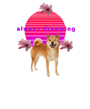 quick vaporwave shiba inu edit thing :/ by sailor-skitty