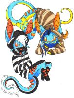 Striped Duo by vippy