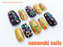Electric Color nails 3 by Nanayuki
