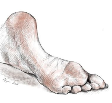 Foot Study by AsharahArt