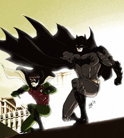 DC New 52:Batman and Robin by kyomusha