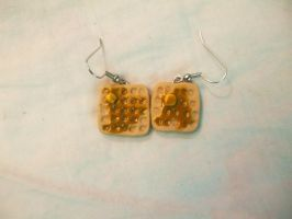 Polymer Clay Waffle Earrings by Number1FMAfangirl