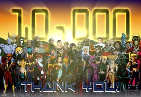 10,000 pageviews by ReverendTrigster