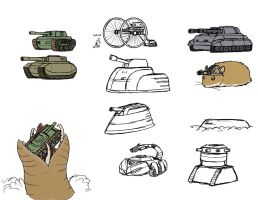 Tank Game concept art by Pandadrake