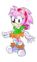 Classic Amy Rose by SMSSkullLeader