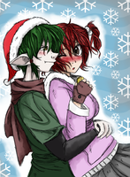 Christmas hugs by Kittykatpaws