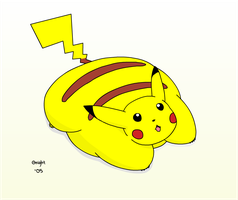 Fat pikachu by Gnight