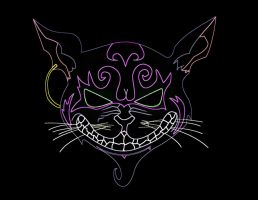 Neon Cheshire Cat by EmeyeX