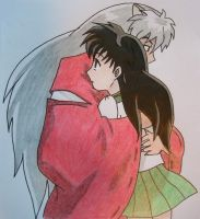 Inuyasha and Kagome by dynamicXpie