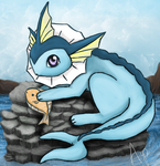 Vaporeon by Aquawaterphoenix