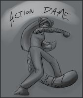 Action Dame by Dsurion