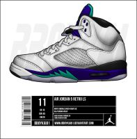 Air Jordan 5 Retro LS 'Grape' by BBoyKai91