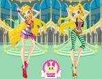 Winx Club Stella Season 5 Outfits Dress Up by heglys