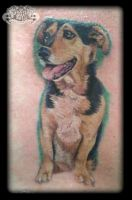 Dog by state-of-art-tattoo