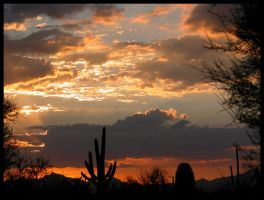 Another Sonoran Monsoon Sunset by RooCat