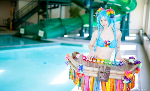 Pool Party Sona - Tiki Time by shelle-chii