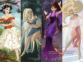 The four Disney elements v.2 by PinkPetalEntrance