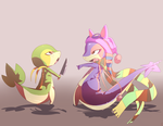 ICE-STAR Snivy and baginazard by phation