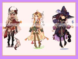 Auction Halloween special adopts! CLOSED by little-mr-demon
