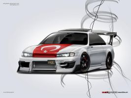 Nissan 200sx s14 by edcgraphic