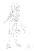 Evela line art by upshdragoon