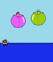 -REQUEST- Wario Land scuba-lloons by Sergy92