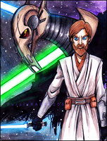General Grievous vs Obi Wan Kenobi by PurpleRAGE9205