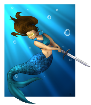 MerMay 2017 Day 19 by SparrowDraws