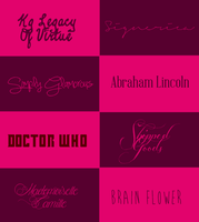 Fonts Pack #007 by its-LostGirl-drt