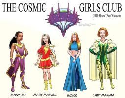The Cosmic Girls Club by EliseuGouveia