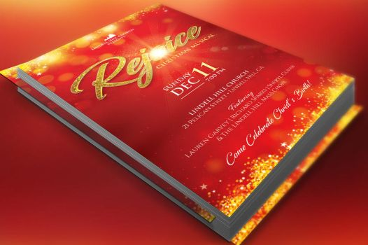 Rejoice Christmas Flyer Poster Template by Godserv