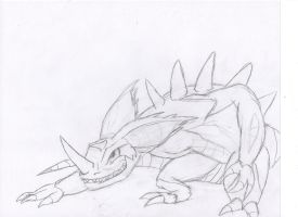 Sovereign the Nidoking by sandragon13
