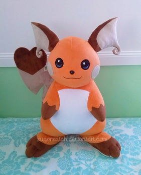 Pokemon: Shiny Raichu by sugarstitch