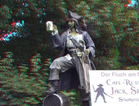 Jack Sparrow Statue 3D by LYazoo