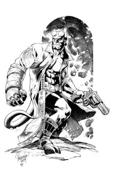 Hellboy by knockmesilly
