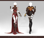 (CLOSED) Adoptable Outfit Auction 215 - 216 by Risoluce